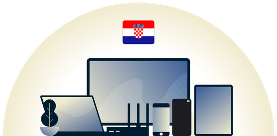 Croatia VPN protecting a variety of devices.