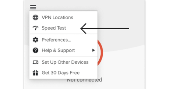 Use the ExpressVPN Speed Test to find the fastest VPN server location for you.