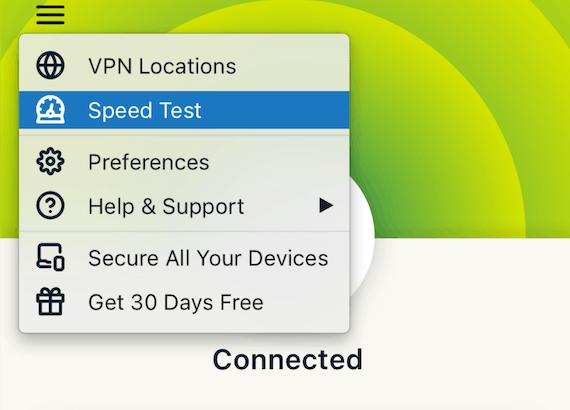 Use el Test de velocidad de ExpressVPN para encontrar la ubicación de servidor VPN más rápida para usted.