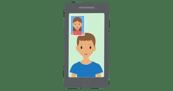 Video-chat puhelimella: sujuvaa juttelua ExpressVPN:n nopeiden palvelimien ansiosta.