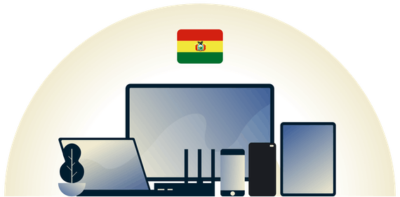 Bolivia VPN protecting a variety of devices.