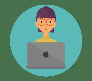Mac VPN: Woman smiling on Apple laptop