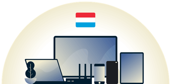 Luxembourg VPN protecting a variety of devices.