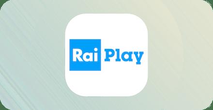 Logo for the Italian streaming service RaiPlay