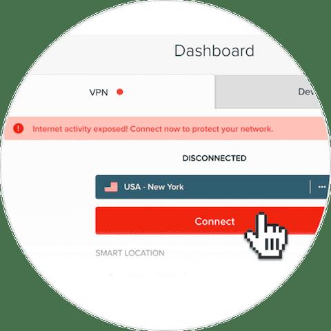 Yönlendiriciler için ExpressVPN uygulaması: uygulamanın arayüzü.