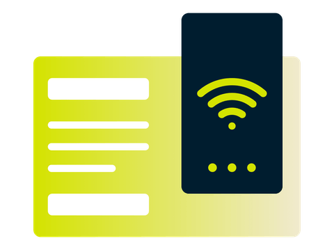 ExpressVPN app for routers: app UI with a Wi-Fi signal.