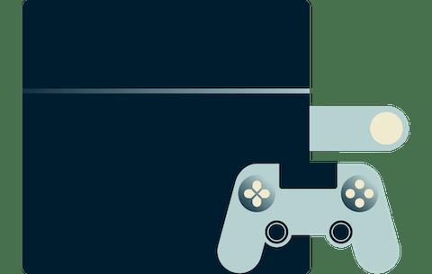 Un control de PlayStation.