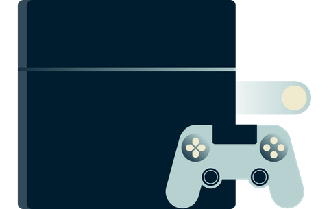 A PlayStation controller.