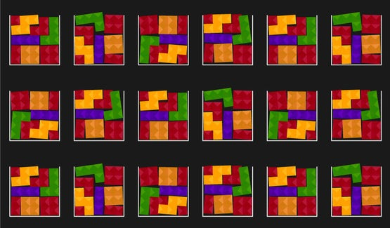 Tetris-like blocks showing how piecemeal software updates can lead to inconsistencies among servers that are not using Trusted Server technology.