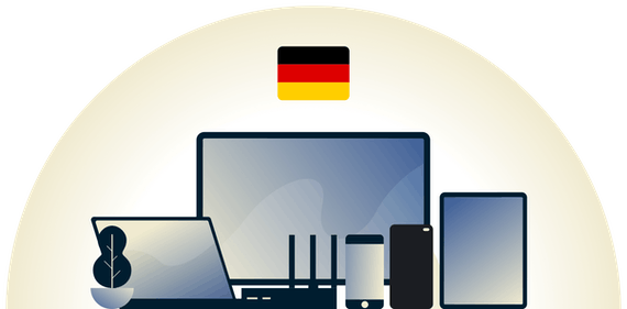 Germany VPN protecting a variety of devices.