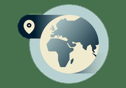 Güvenli VPN konumlarını gösteren Birleşik Krallık haritası.