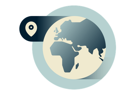 Klode som viser Europa, Afrika og Midtøsten.
