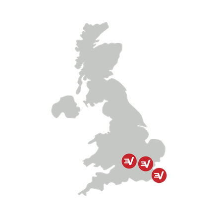 UK map showing secure VPN locations.