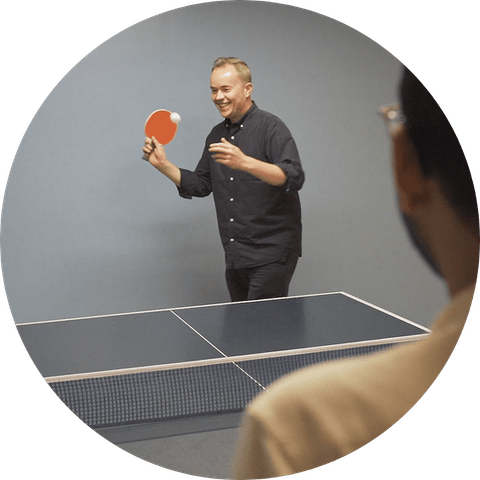 ExpressVPN work-life balance ping pong table tennis game.