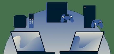 Tietokoneen käyttö virtuaalireitittiminä VPN-yhteyden jakamiseksi Apple-TV:lle, PlayStationille ja Xboxille.