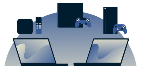 Using a computer as a virtual router to share a VPN connection with an Apple TV, PlayStation, and Xbox.