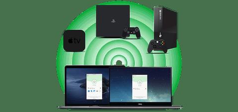 การใช้คอมพิวเตอร์เป็นเราเตอร์เสมือนเพื่อแชร์การเชื่อมต่อ VPN กับ Apple TV, PlayStation และ Xbox