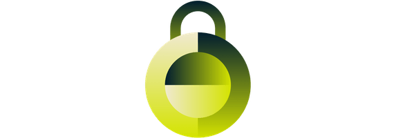 A lock symbolizing security.