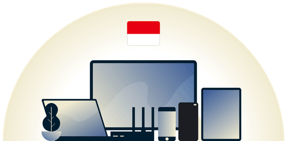 Indonesia VPN protecting a variety of devices.