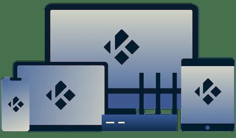 Kodi on phone, tablet, and desktop.
