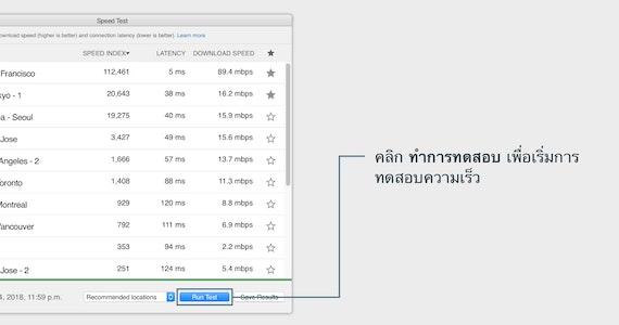 รับการเชื่อมต่ออินเทอร์เน็ตที่เร็วที่สุดด้วย ExpressVPN