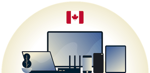 Canada VPN protecting a variety of devices.