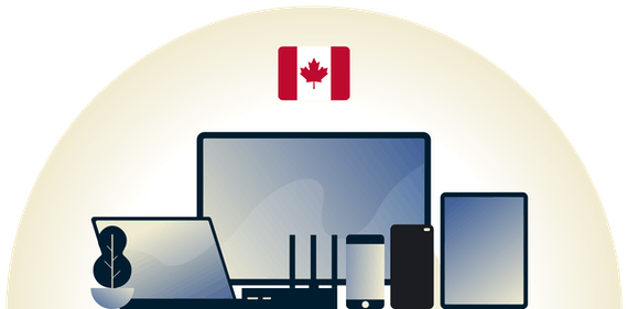 Kanadalainen VPN suojaamassa monenlaisia laitteita.