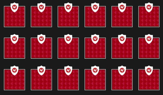 Et gitter med identiske blokke, der viser, hvordan Trusted Server sikrer, at software og konfigurationer er konsistente på tværs af alle ExpressVPN-servere.