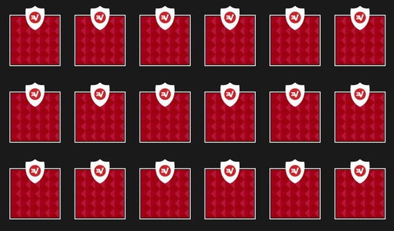 A grid of identical blocks, showing how Trusted Server ensures that software and configurations are consistent across all ExpressVPN servers.