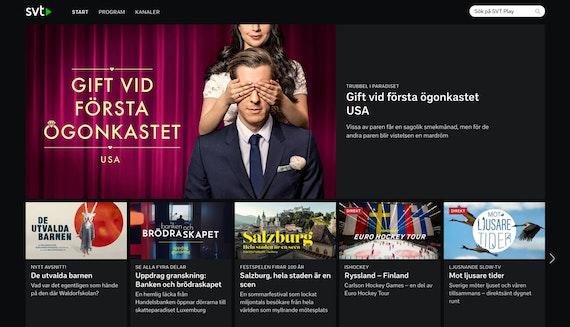 SVT Play on a desktop screen.