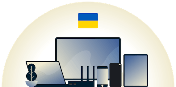 Ukraine VPN protecting a variety of devices.