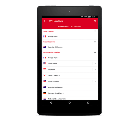 Use ExpressVPN on your Kindle Fire.