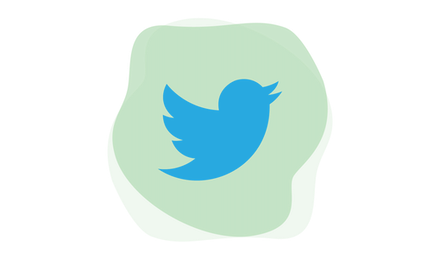 Twitterロゴ。