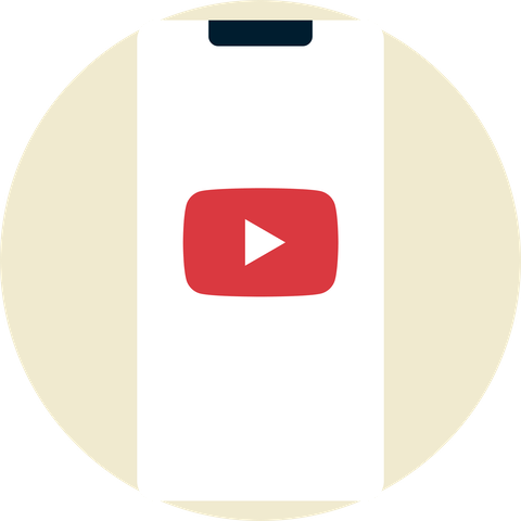 YouTube-logo på en mobilenhet.