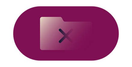 Folder with a cross through it.