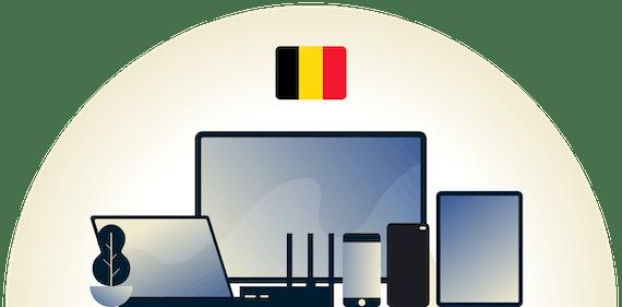 Una VPN de Bélgica protegiendo una variedad de dispositivos.