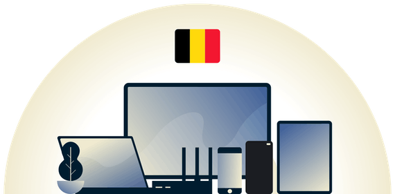 Belgium VPN protecting a variety of devices.