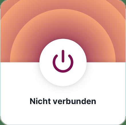 ExpressVPN-App UI (iOS): VPN getrennt.