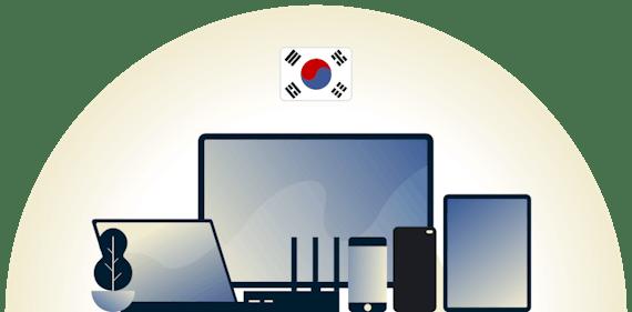 Çeşitli cihazları koruyan Güney Kore VPN