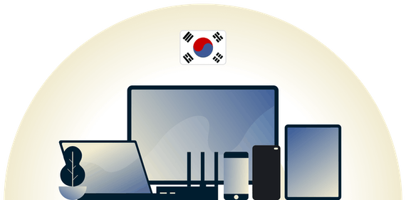 South Korea VPN protecting a variety of devices.
