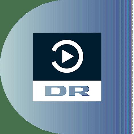 Watch the Danish platform DR TV with a VPN. DR TV logo.