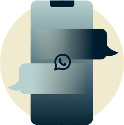 Utenti WhatsApp connessi in tutto il mondo.