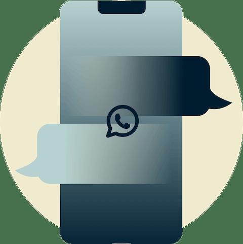 Usuarios de WhatsApp conectados en un globo terráqueo.