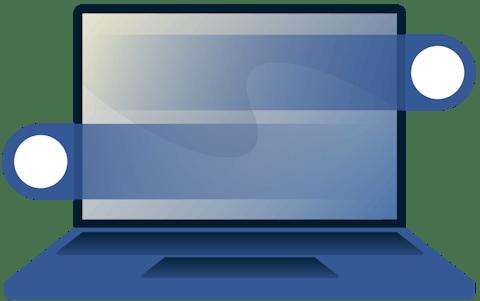 Gesto de deslizamiento en una laptop