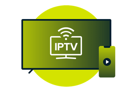 IPTV on a tv screen monitor.