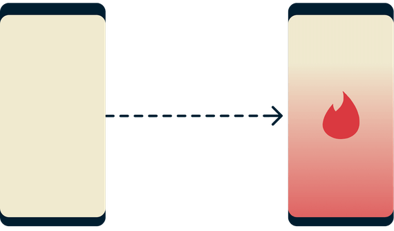 Tinder에 액세스할 수 없는 휴대폰과 성공적으로 액세스한 휴대폰