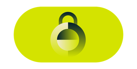 Un escudo de seguridad color verde.