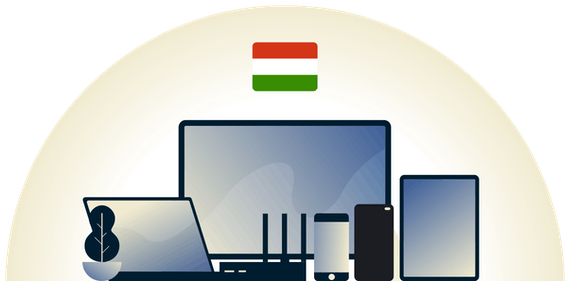 Hungary VPN protecting a variety of devices.