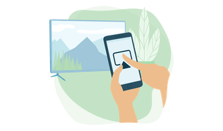 Screen mirroring or casting from phone.