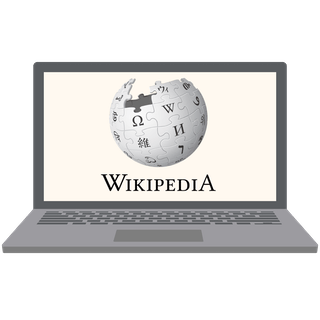 Wikipedia unblocked on a laptop.